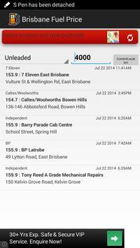 Fuel Price Search Brisbane poster