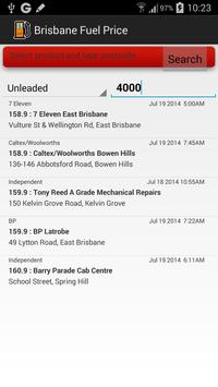 Fuel Price Search Brisbane apk screenshot
