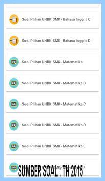 UNBK SMK 2018-KUMPULAN SOAL PILIHAN SERING KELUAR apk screenshot