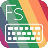 Flat Style Colored Keyboard icon