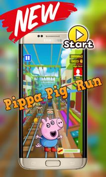 Adventure Pepa Run pig poster
