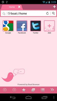 Pink Bird Boat Browser Theme poster