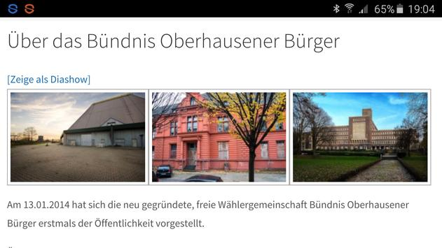 Bündnis Oberhausener Bürger screenshot 1