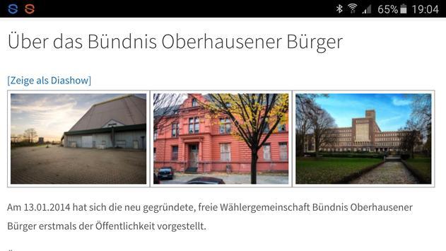Bündnis Oberhausener Bürger screenshot 2