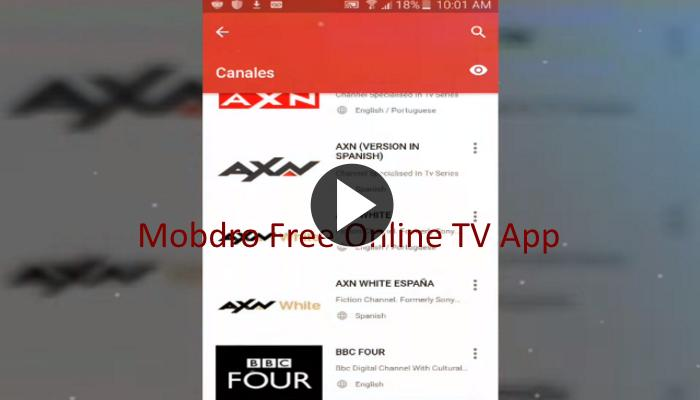 Free Mobdro Online TV For Android Tips for Android - APK