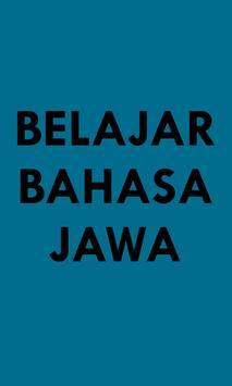 Belajar Bahasa Jawa poster