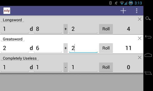 xdy Dice Roller screenshot 1