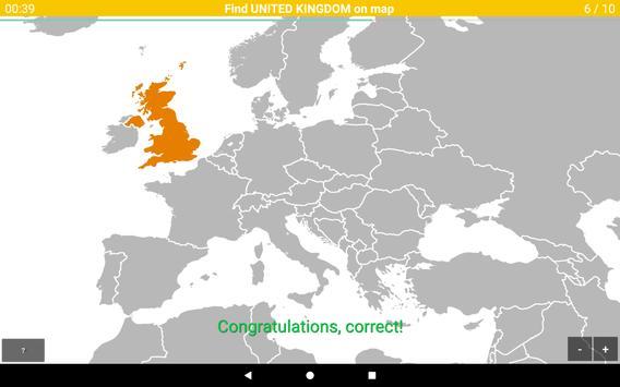 Europe Map Quiz screenshot 7