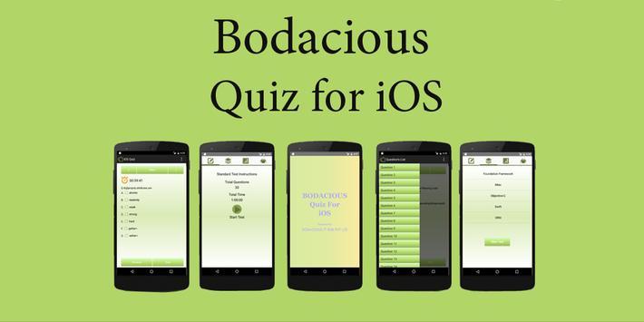 Bodacious Quiz for iOS poster
