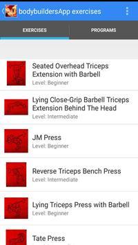 BodybuildersApp Exercises screenshot 1