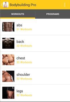 Bodybuilding Workout Plans Pro Poster Apk Screenshot