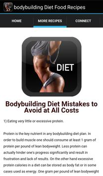 Bodybuilding Diet Food Recipes apk screenshot