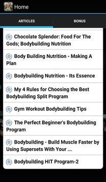 Bodybuilding Nutrition Program apk screenshot