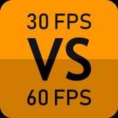 30 FPS vs 60 FPS biểu tượng