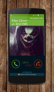 Call Clown Killer Prank screenshot 1