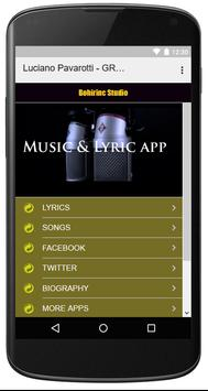 Luciano Pavarotti - GREATEST SONGS screenshot 3