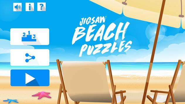Rompecabezas de playas poster