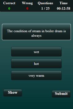 Steam Boiler Quiz screenshot 1