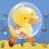Duck walk on Ecological Earth icon