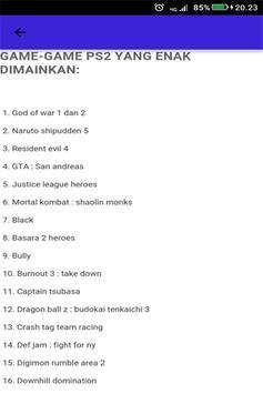 Kode Game PS2 Terlengkap screenshot 2