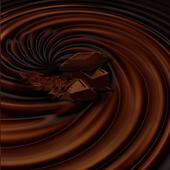 Ripple chocolate effect icon