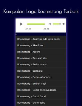 Kumpulan Lagu Boomerang Terbaik apk screenshot