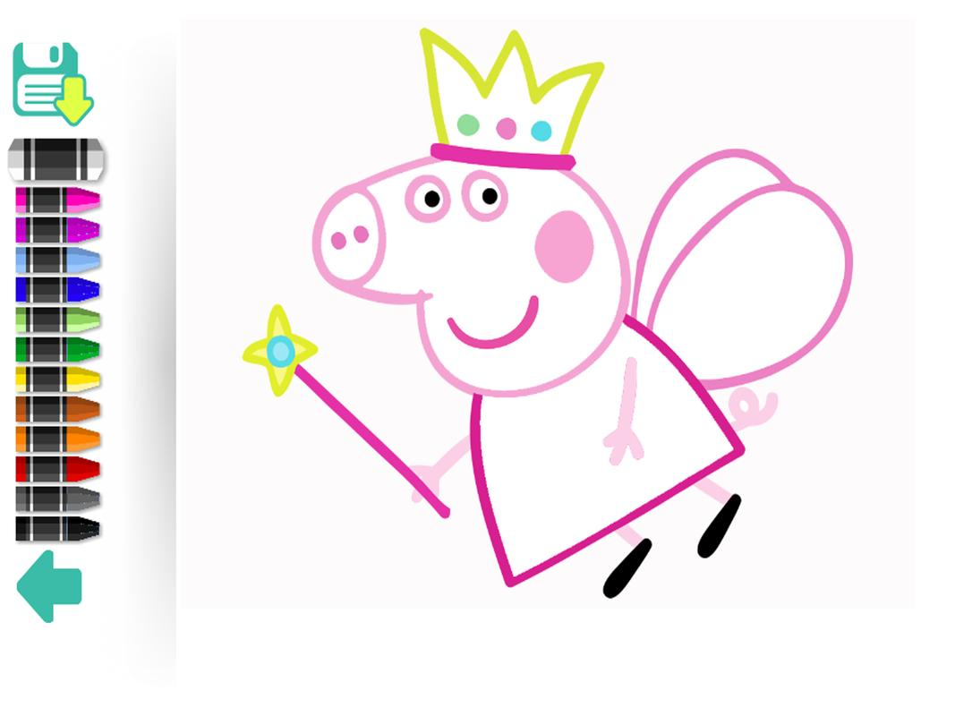 Color book paint Peppy pig APK Download - Free Educational GAME for ...