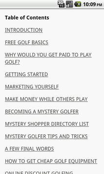 Get Paid To Play Golf screenshot 1