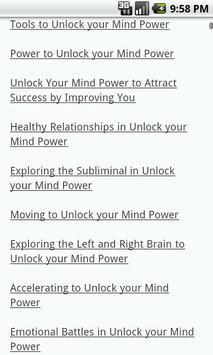 Unlock Your Mind Power apk screenshot