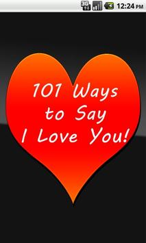 101 Ways to Say I Love You poster