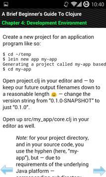 Clojure For Beginners apk screenshot