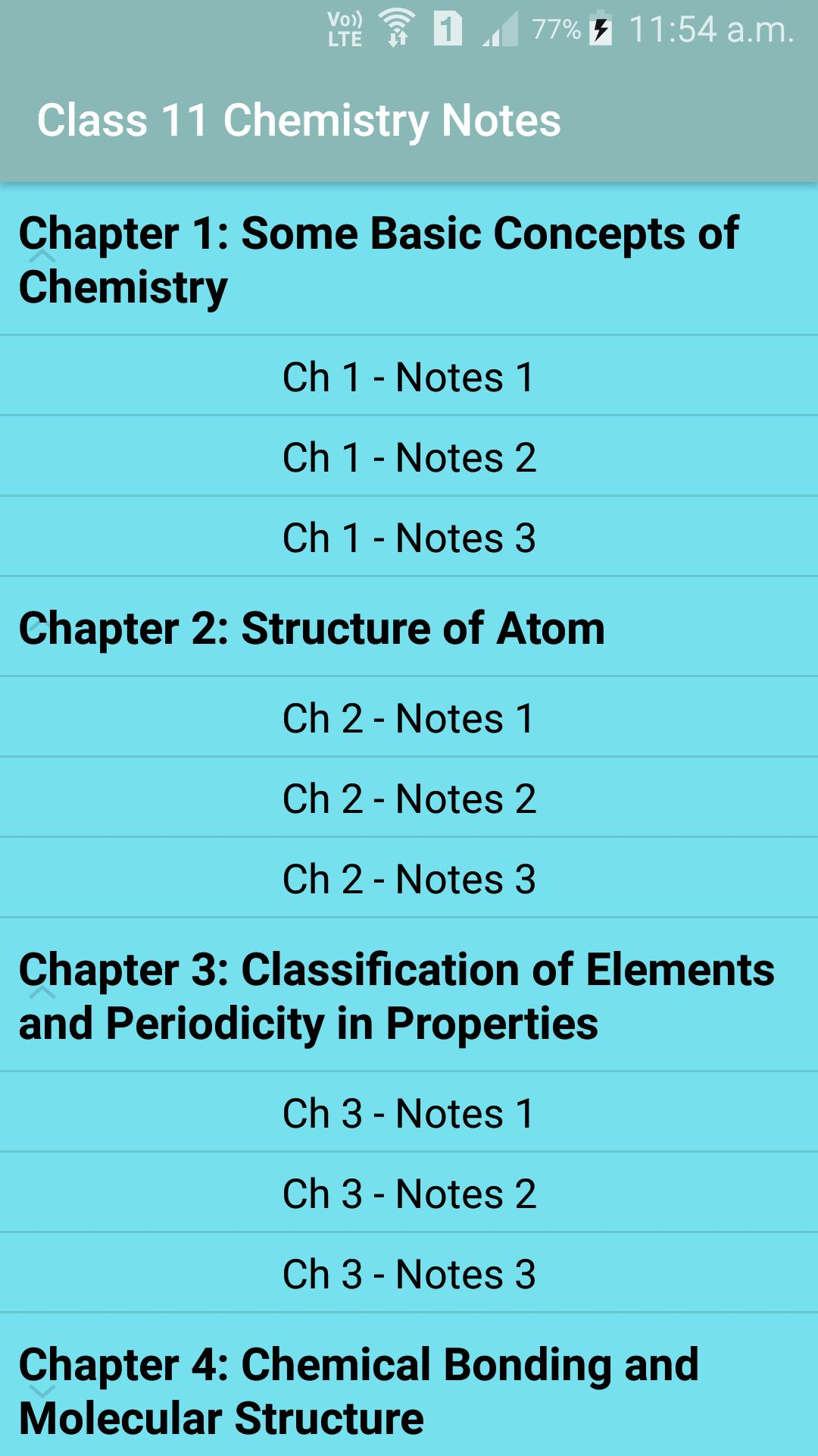 Class 11 Chemistry Notes for Android - APK Download