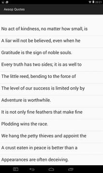 Aesop Quotes & Fables apk screenshot