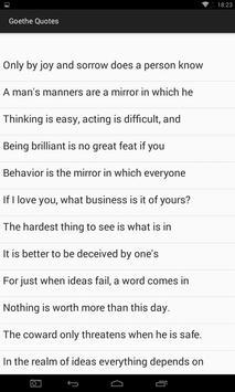Goethe Quotes apk screenshot