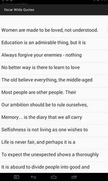 Oscar Wilde Quotes screenshot 5