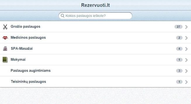 Rezervuoti.lt apk screenshot