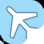 Booking flights icon