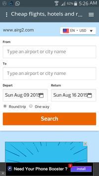 Booking flights poster