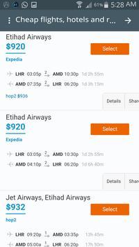 Booking flights screenshot 2