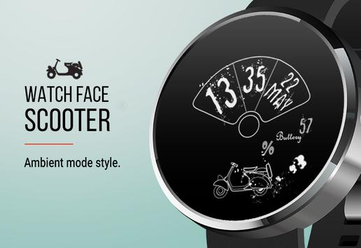 Let's Roll: Scooter Watch Face screenshot 1