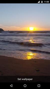 Beach Sunset Video LWP apk screenshot