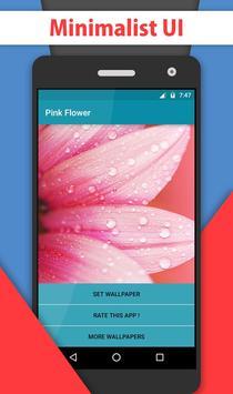 Pink Flower Water Drops LWP apk screenshot