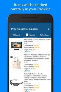 2 Schermata Price Tracker per Amazon