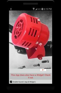 Bomber Attack Alarm Siren App poster