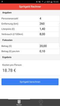Spritgeld Rechner screenshot 1