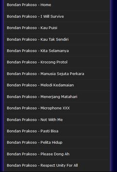 Top Hits Bondan Prakoso Mp3 apk screenshot