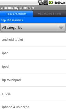 Pocket Auctions eBay apk screenshot