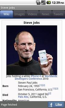 WikiMobile 2 (for Wikipedia) apk screenshot