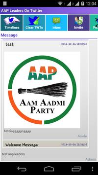 AAP Leaders On Twitter poster