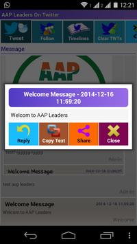 AAP Leaders On Twitter apk screenshot